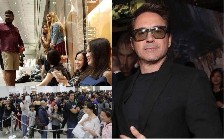 Penangan Robert Downey Jr. Ke Singapura, Peminat Tunggu Sampai Tak Mandi Dua Hari