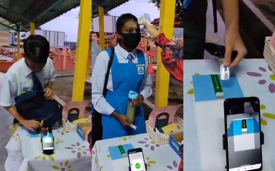 Canggih! Pelajar Sekolah Ini Hanya Imbas Kod QR, Suhu Pula Direkod Secara Automatik Menggunakan...