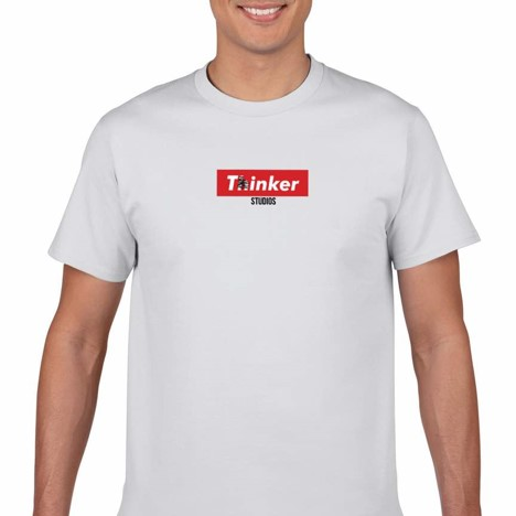 Thinker Box Logo Tee (White)