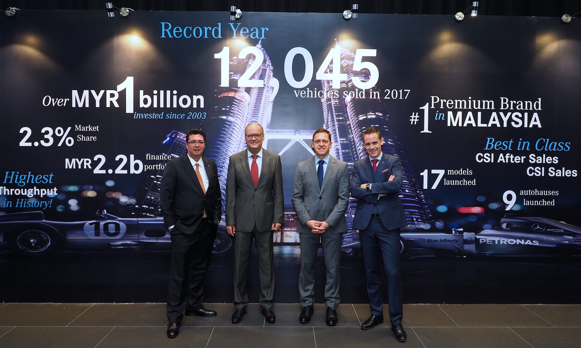 mercedes benz malaysia doesn t like keeping records breaks them again