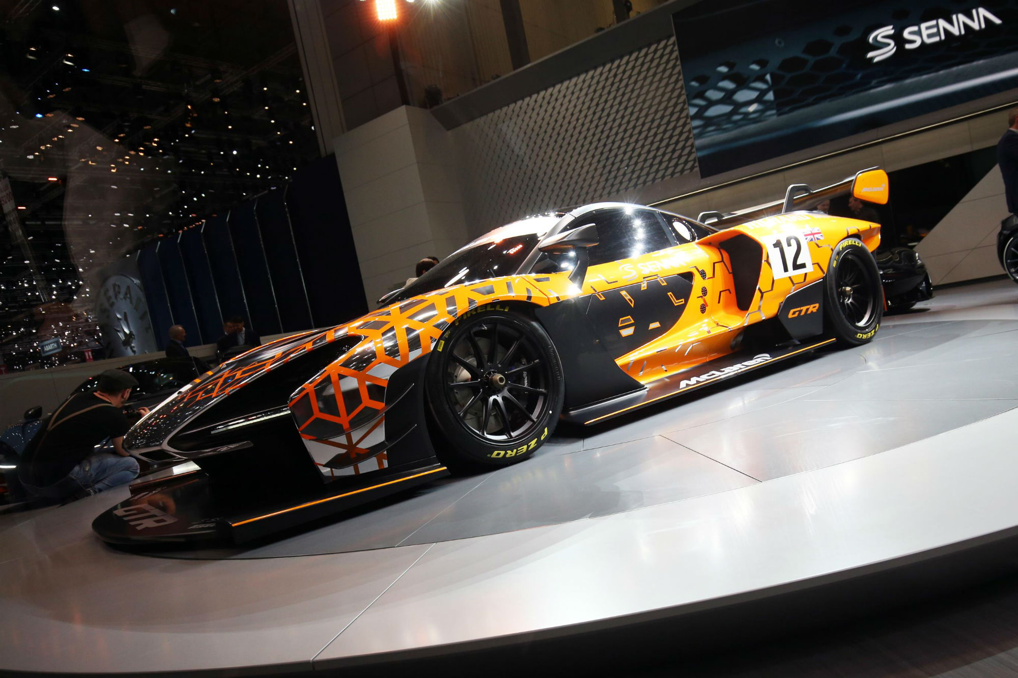 the mclaren senna gtr concept is the track only version of the track focus road car