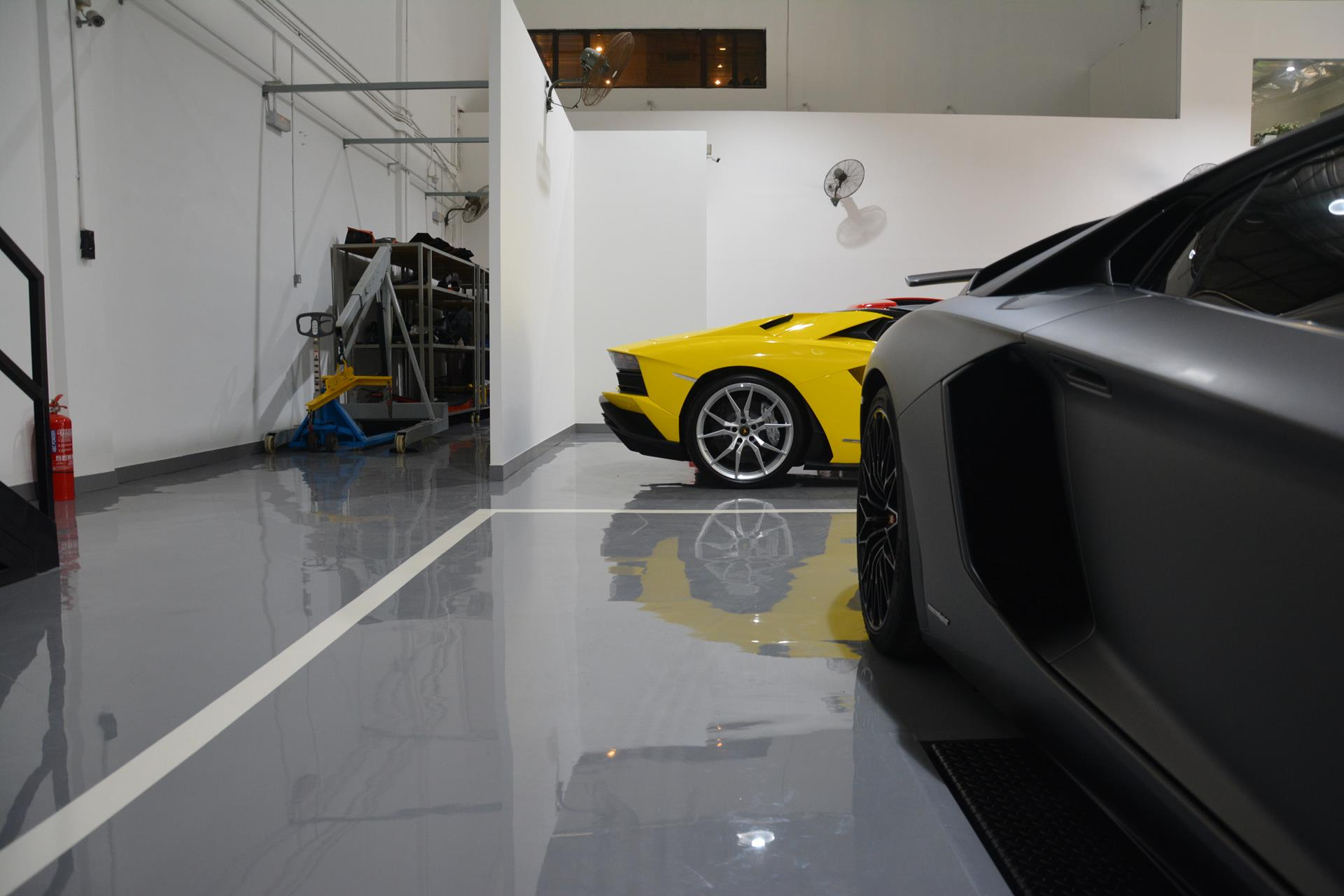 just launched facelifted lamborghini showroom