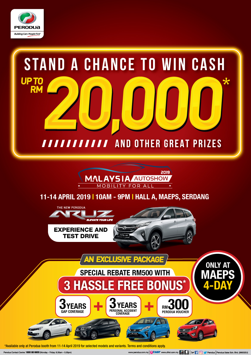 perodua to make it rain cash prizes and exclusive deals at malaysia autoshow 2019
