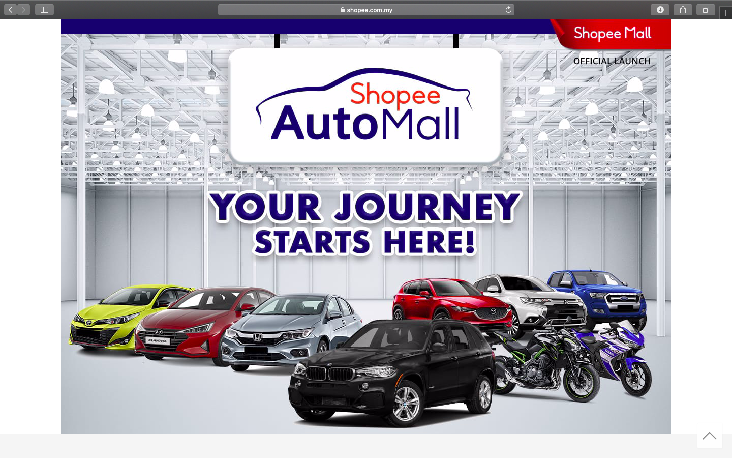 shopee automall now open and not a salesperson is in sight
