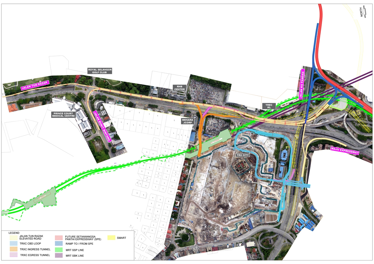 new multi level roadway should alleviate the parking lot known as jalan tun razak