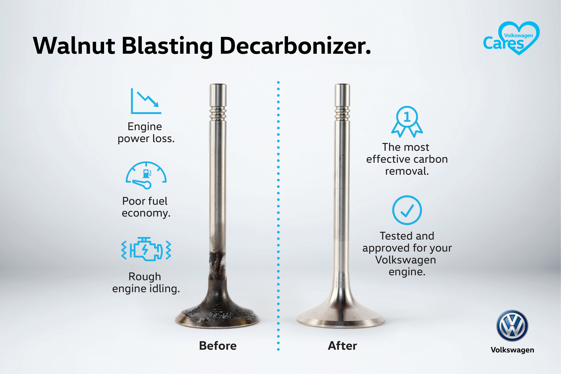volkswagen recommends you blast some walnuts into your engine to clean it up