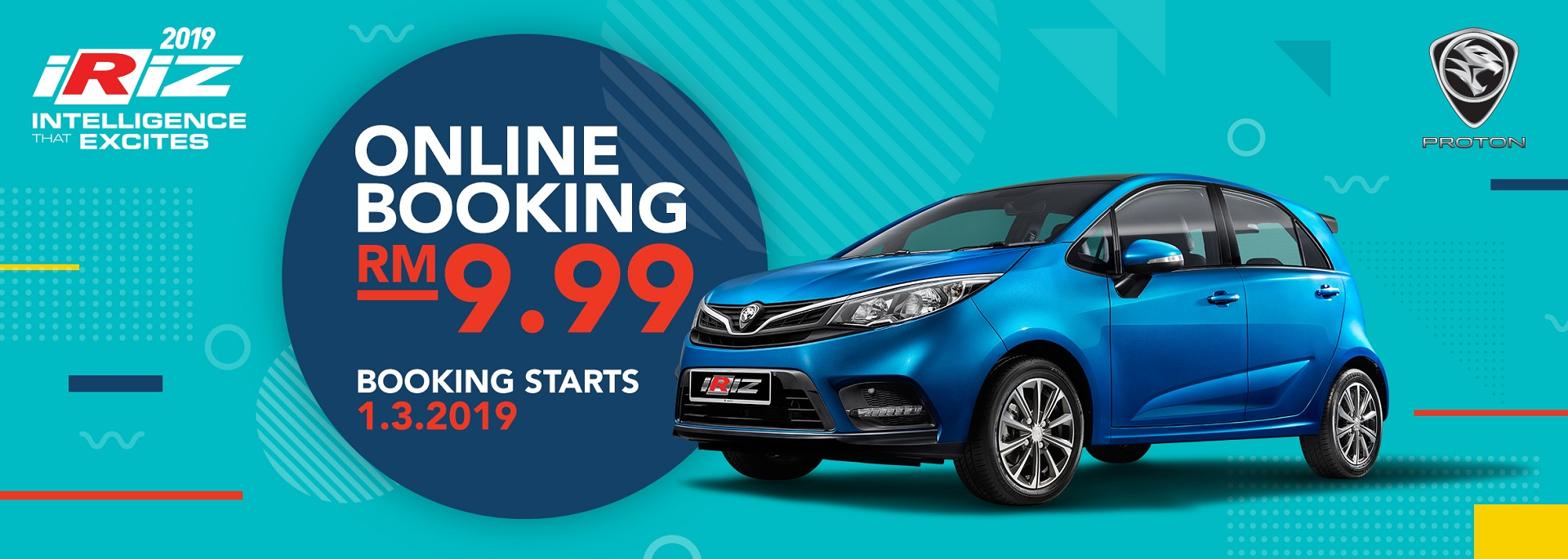 book the facelifted proton iriz from just rm9 99 online