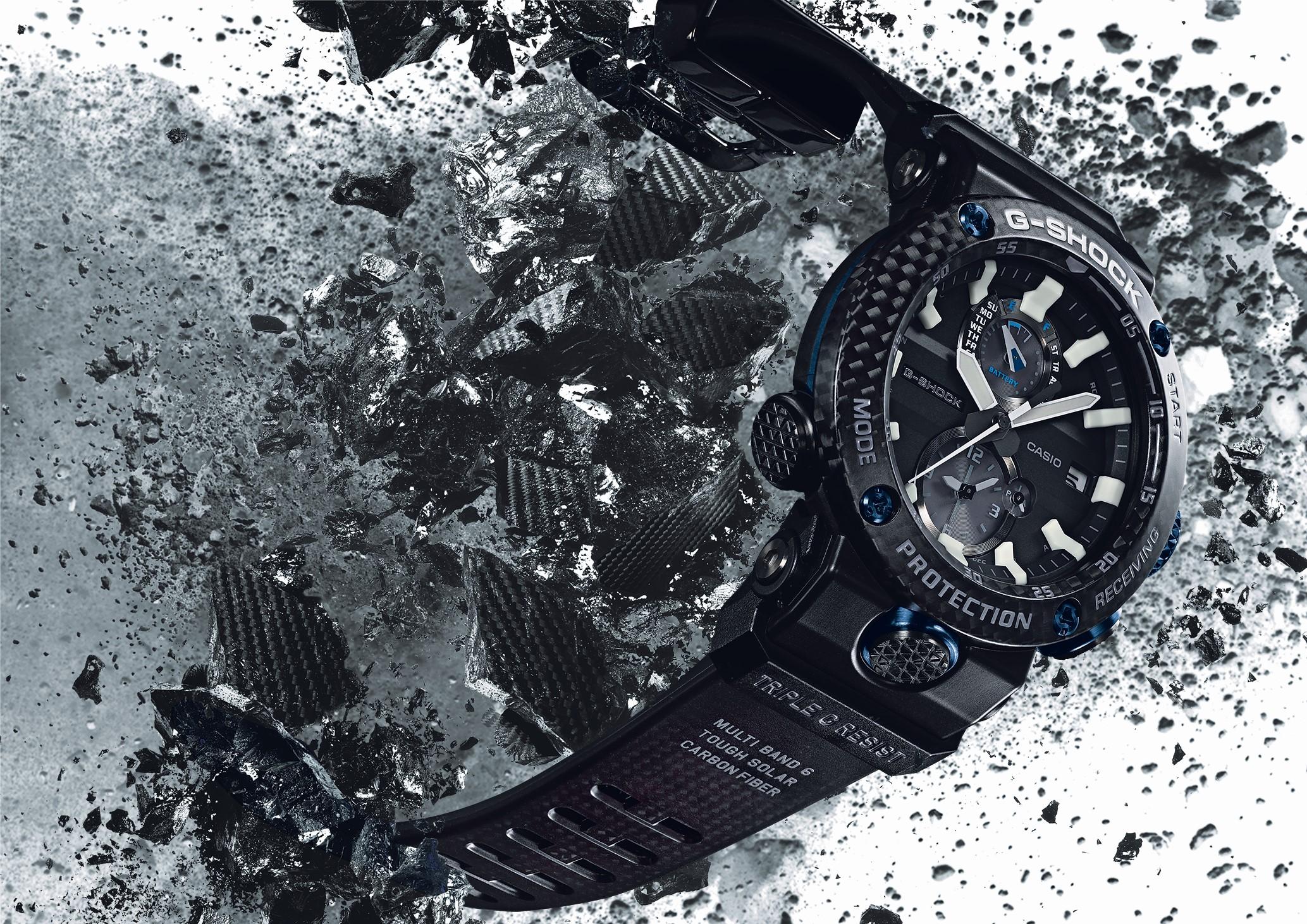 casio g shock gravitymaster gwr b1000 fulfils your daily carbon fibre intake