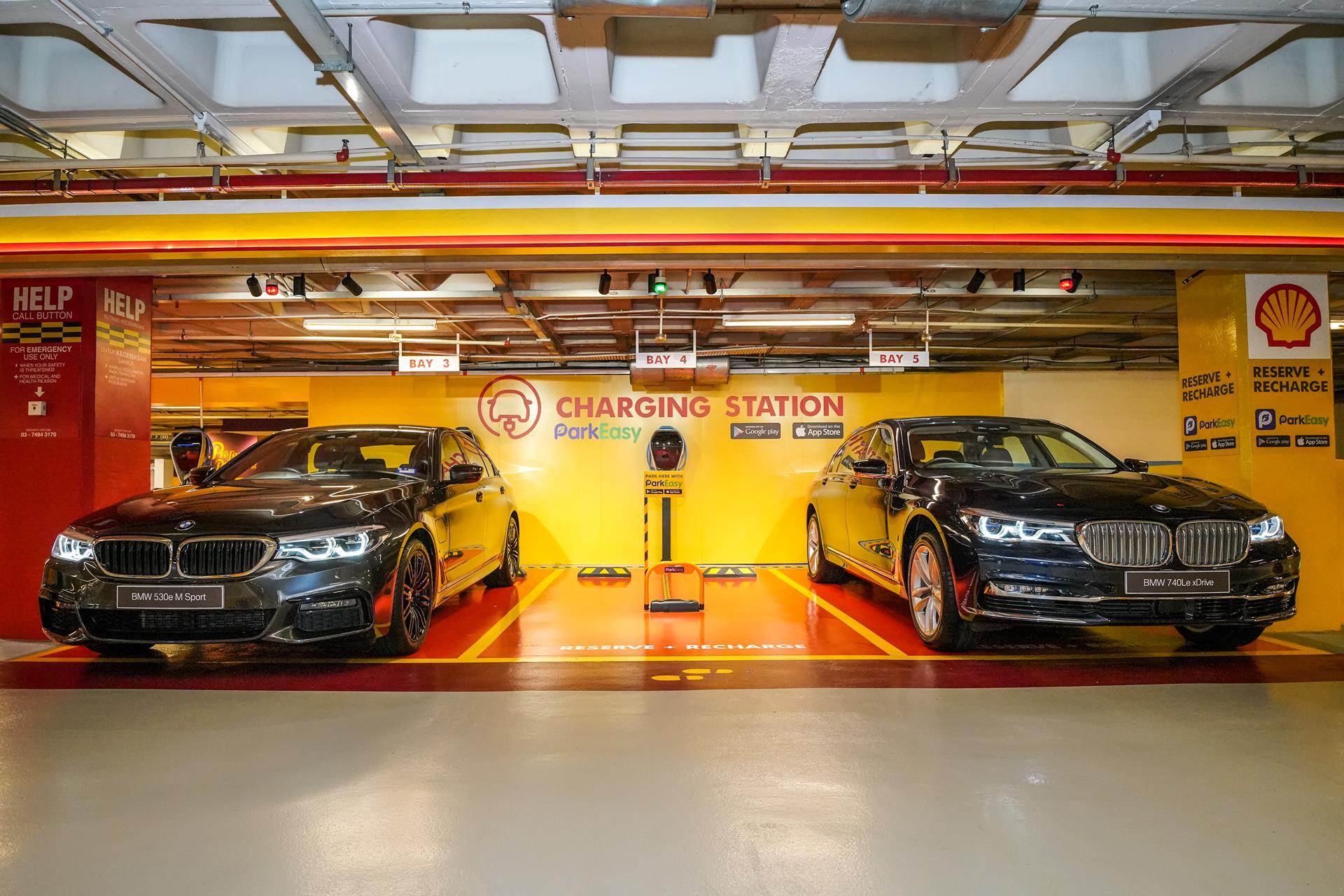 parkeasy bmw and shell team up to help you reserve parking bays in malls