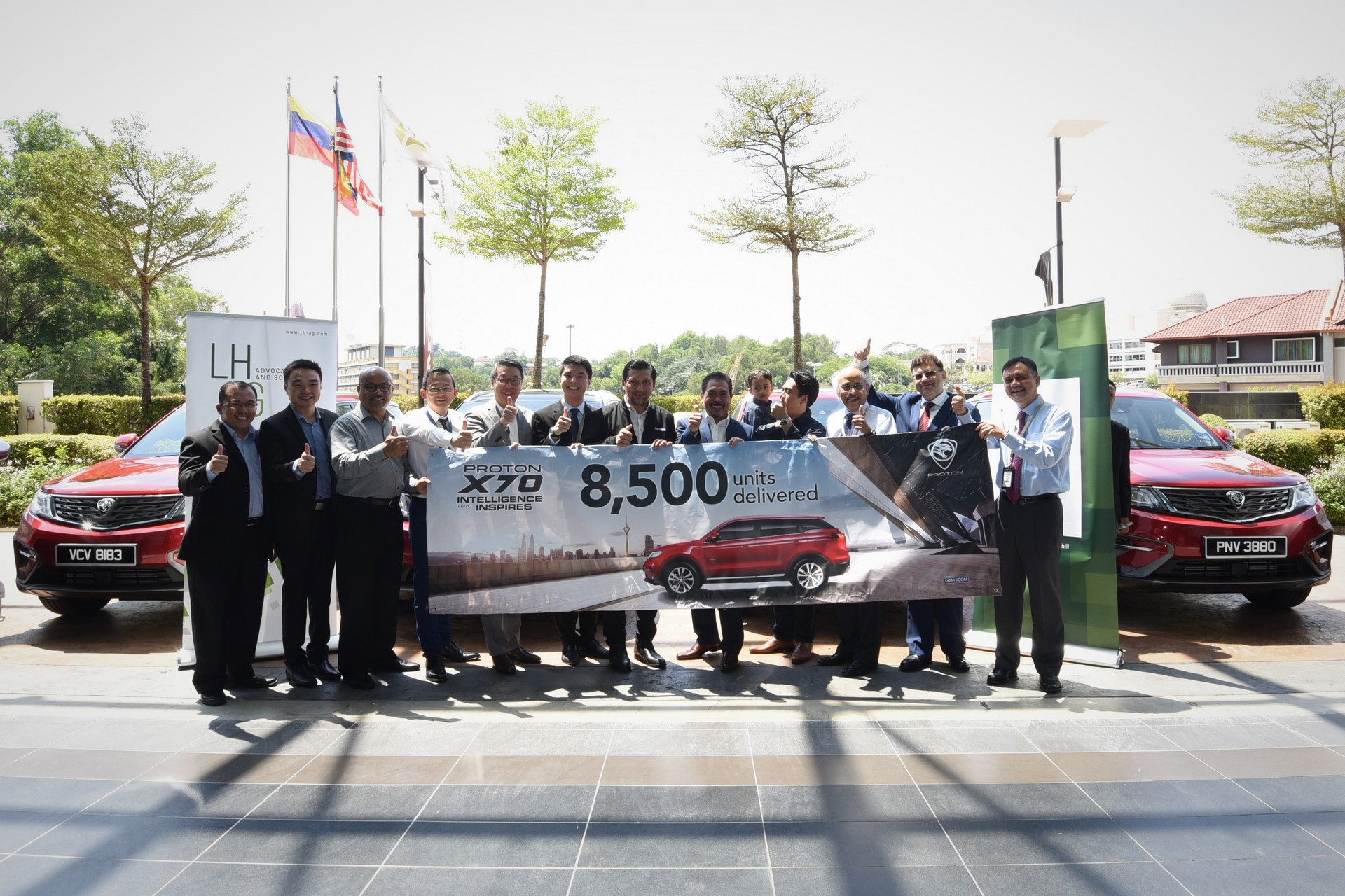 proton delivered 8 500 units of the x70 in the first 100 days