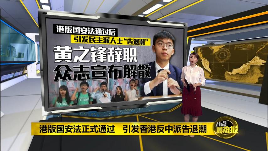 港版国安法正式通过   引发香港反中派告退潮