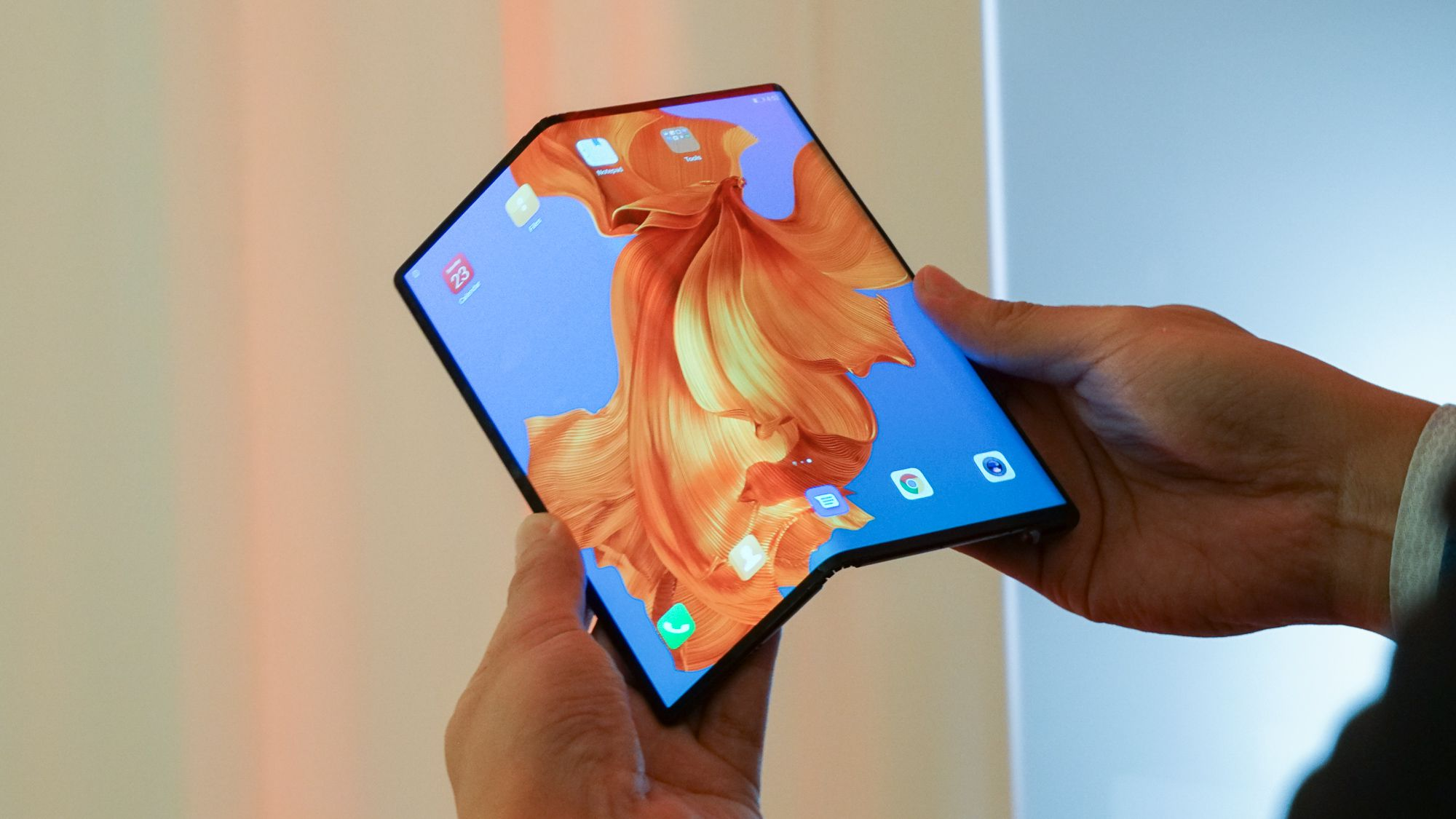 The first foldable smartphone in the market.