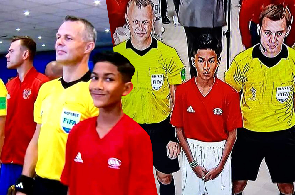 A Malaysian Teen Actually Participated In The Spain-Russia World Cup Match