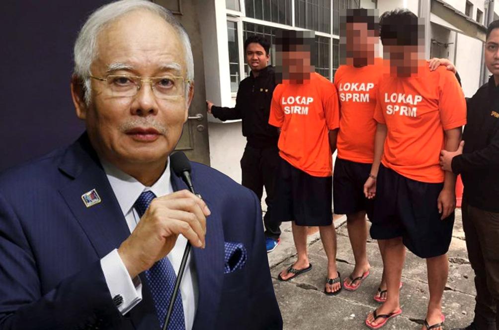 Here's Why Najib Razak Wasn't Wearing The Orange 'Lokap SPRM' Shirt