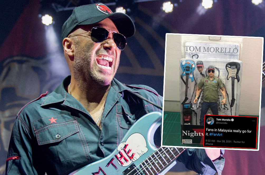 Legendary Rocker Tom Morello Gives M'sian Fan A Shout Out After Receiving Customised Action Figure
