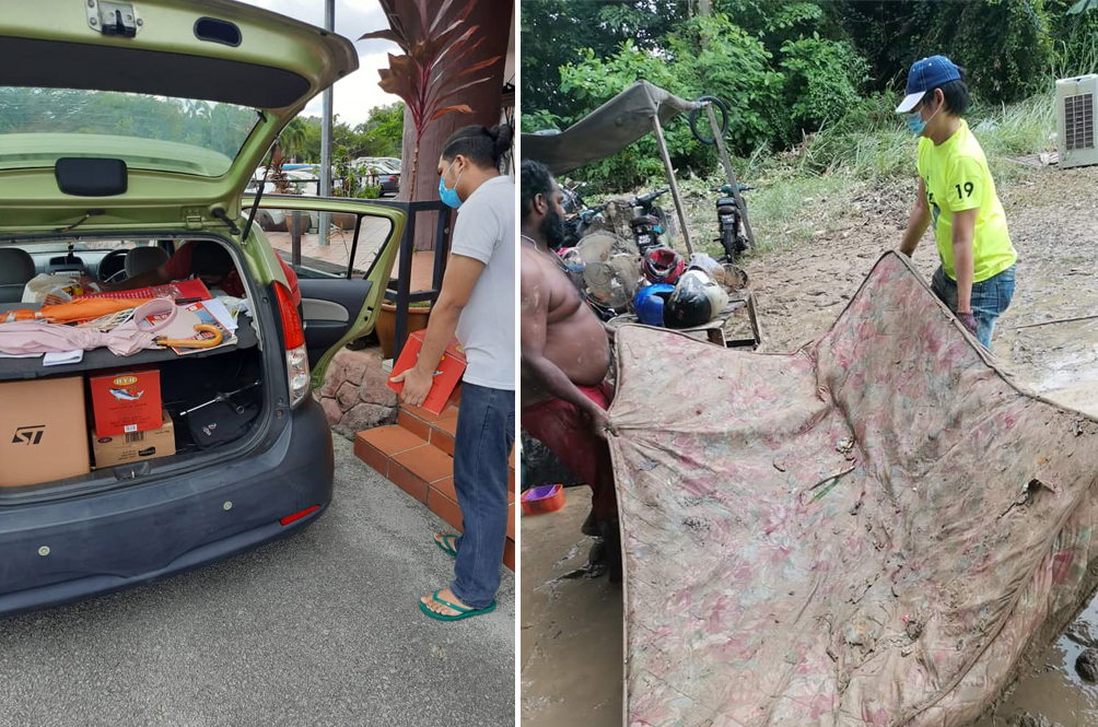 Man Sets Up Flood Food Bank Project To Help Flash Flood Victims In Seremban
