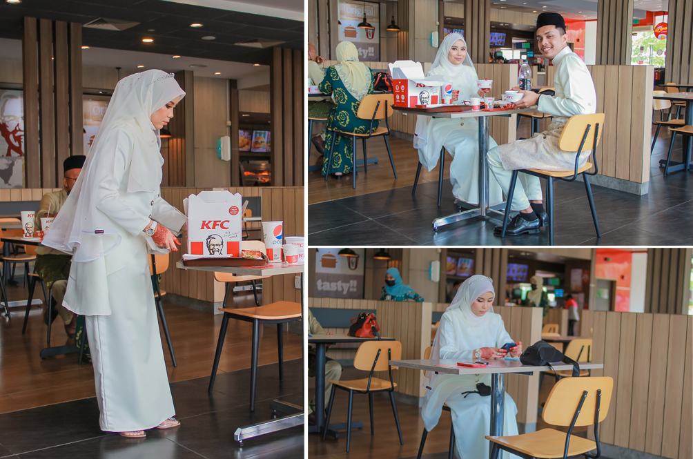 Undeterred By The MCO, This Malaysian Couple Threw Their Wedding Luncheon At A KFC Restaurant