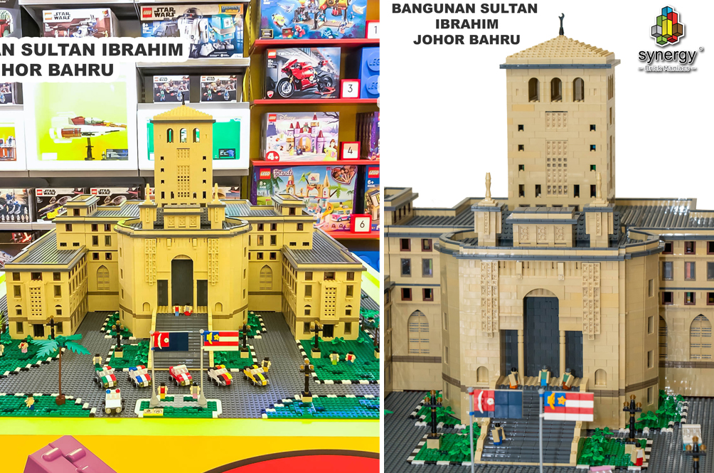 Two Malaysian LEGO Fans Spent Six Weeks Building A Replica Of The Iconic Bangunan Sultan Ibrahim