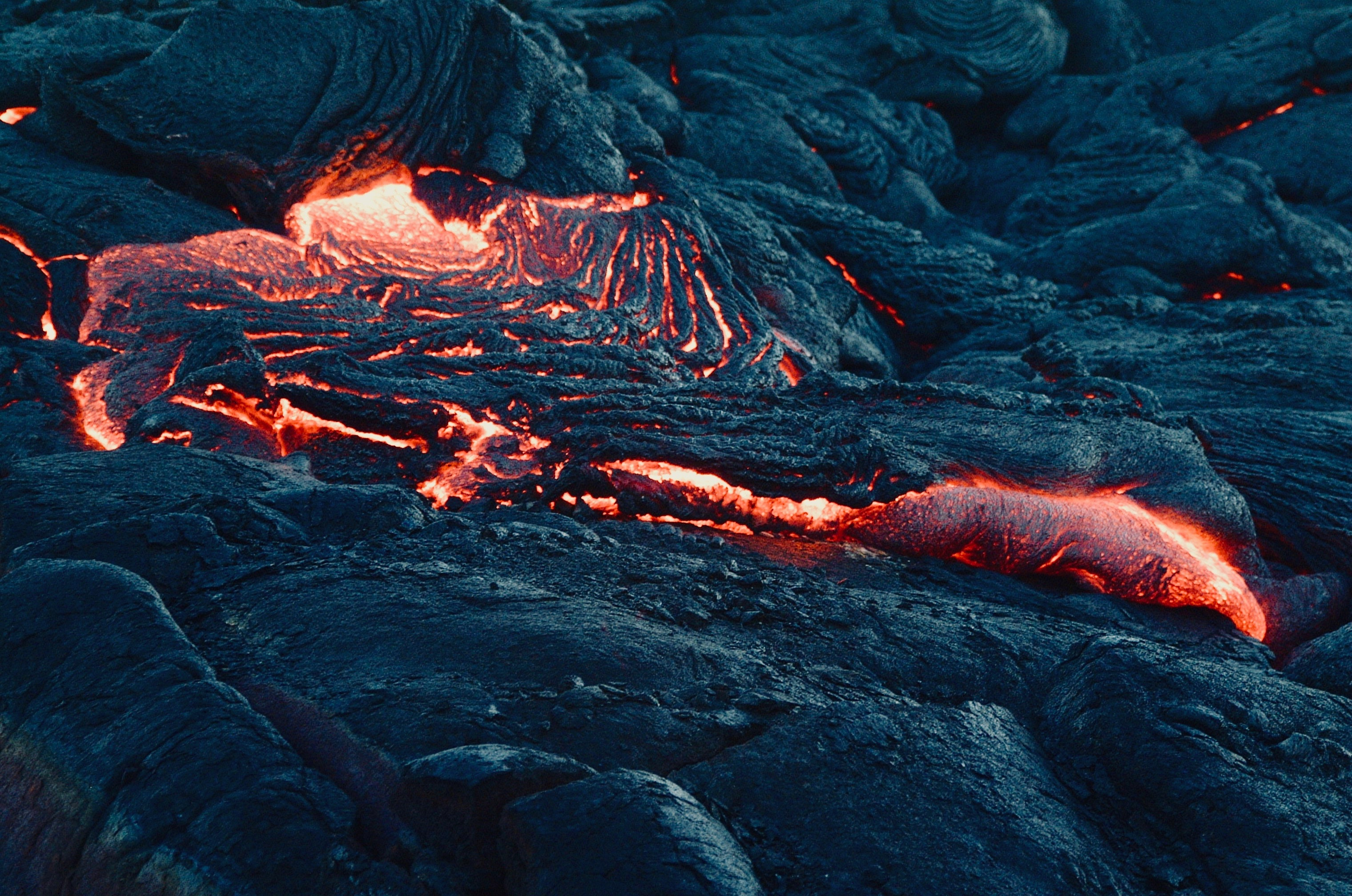 Get up close and personal with the lava.