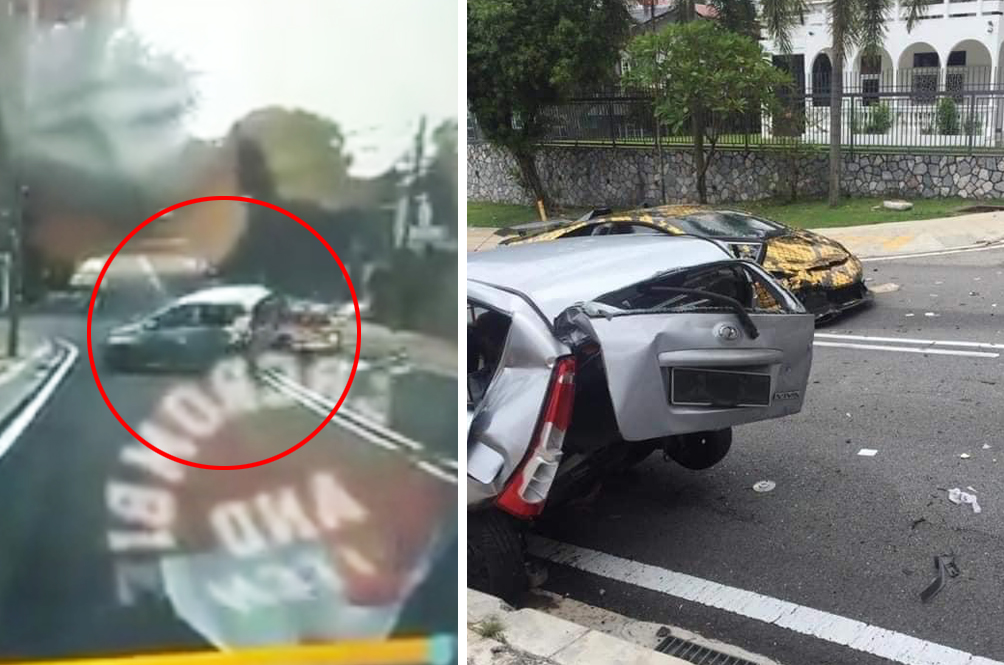 Speeding Lamborghini Huracan Caught On Camera Smashing Into Perodua Viva