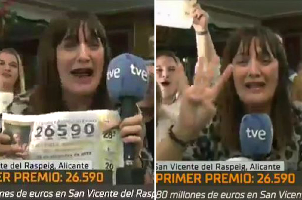 Spanish Reporter Quits On Air After Winning Lottery, Only To Find Out Later She Won Just €5,000!