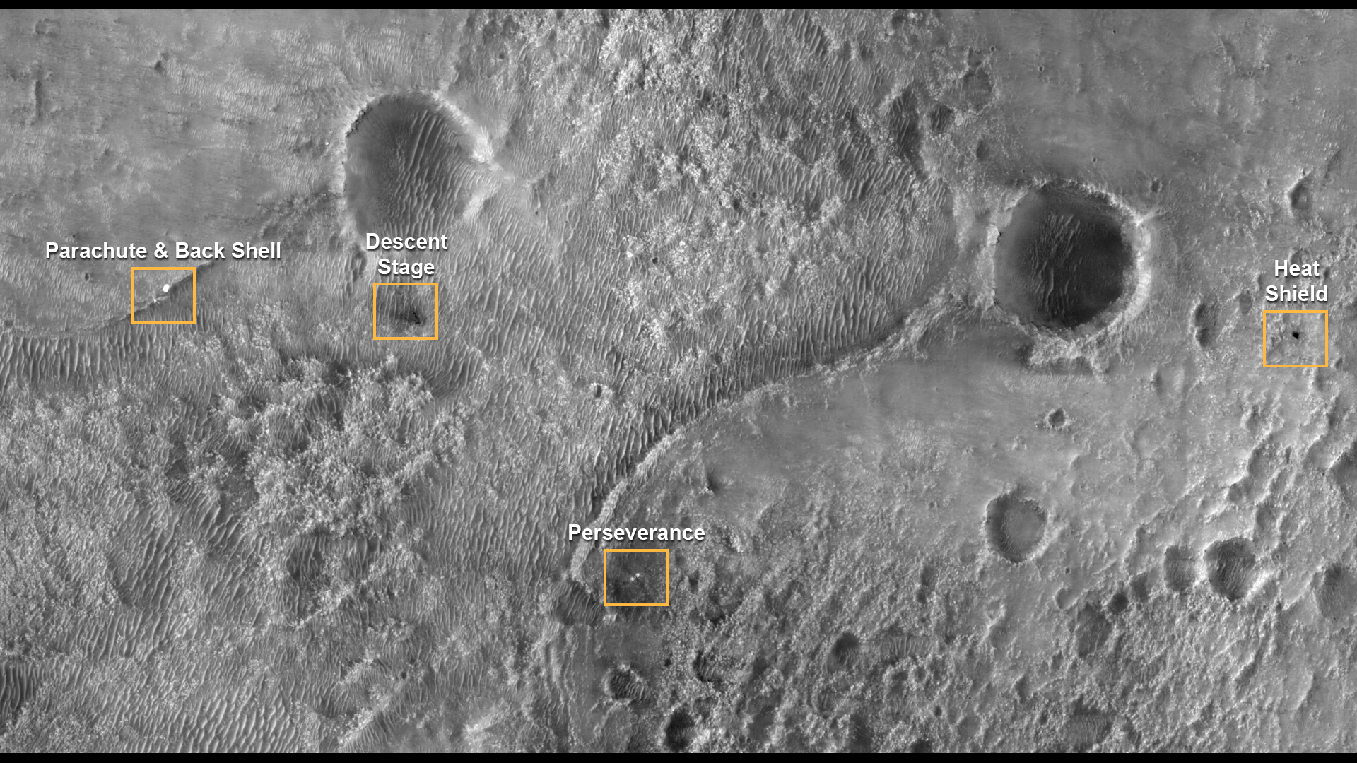 The landing site for the rover.