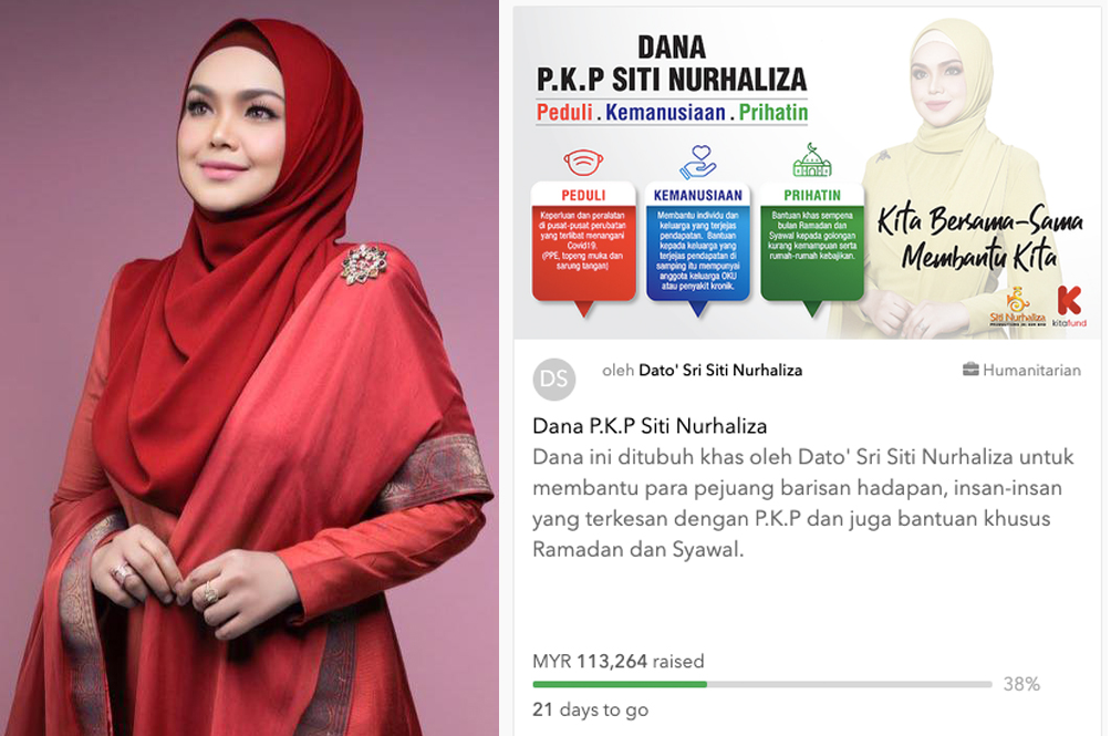 Siti Nurhaliza's 'Dana PKP' Has Collected Over RM113,000 In Less Than Two Weeks