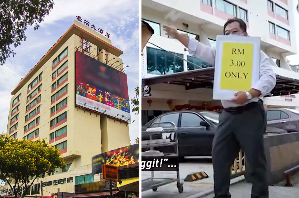 This Hotel In Penang Has Set Up A Roadside Stall To Sell Dishes For Just RM3 During The MCO