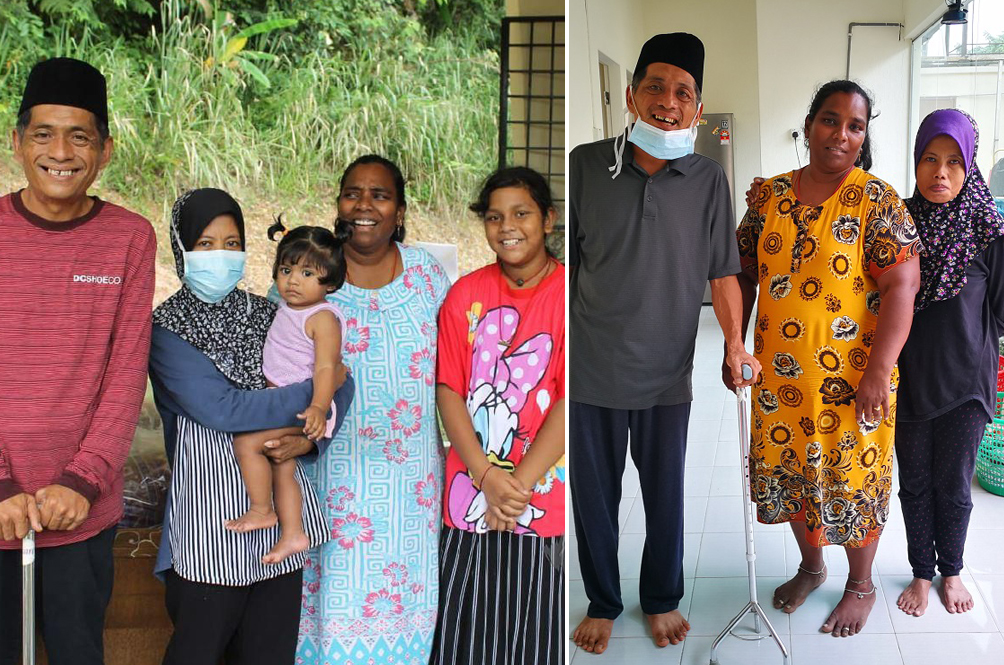 Family In Seremban 'Adopts' Elderly Couple Who Lost Their Source Of Income Because Of MCO