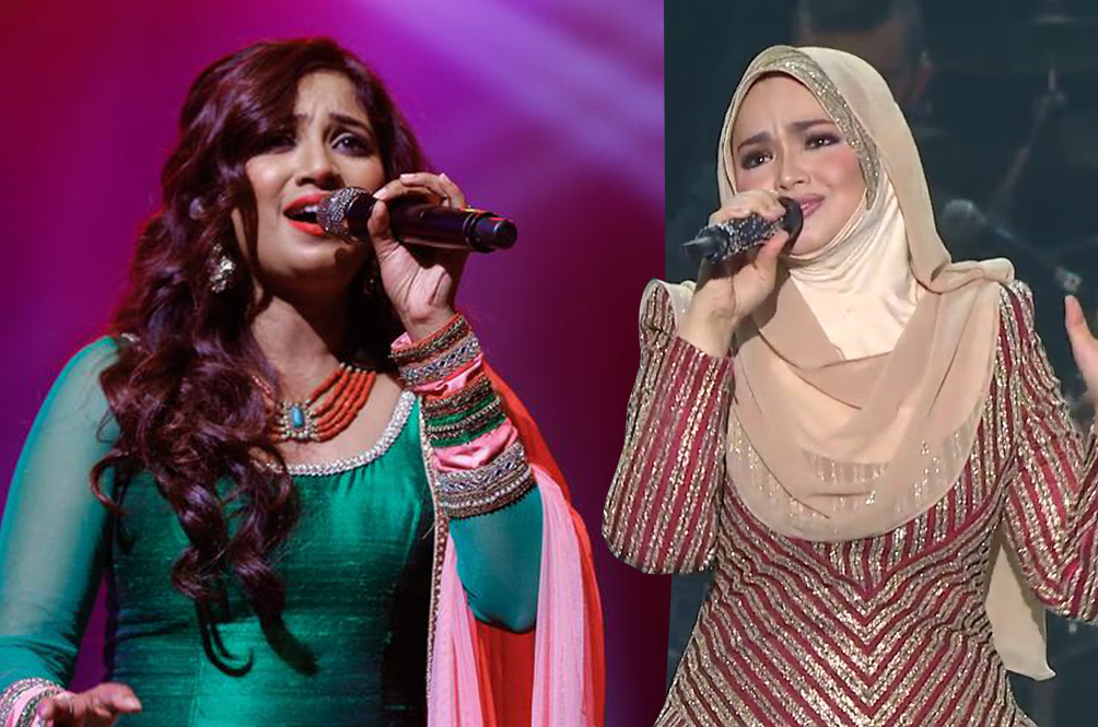 Indian Playback Singer Covers Siti Nurhaliza's