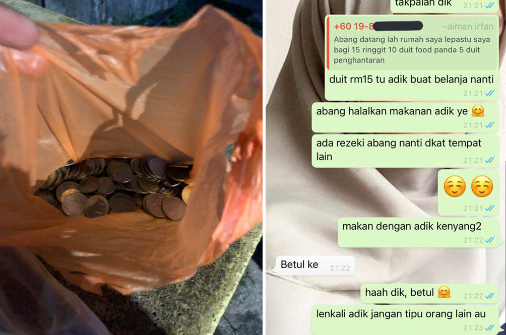 Kind-Hearted Abang Rider Tops Up For Boy Who Paid For Pizza With Coins But Came Up Short
