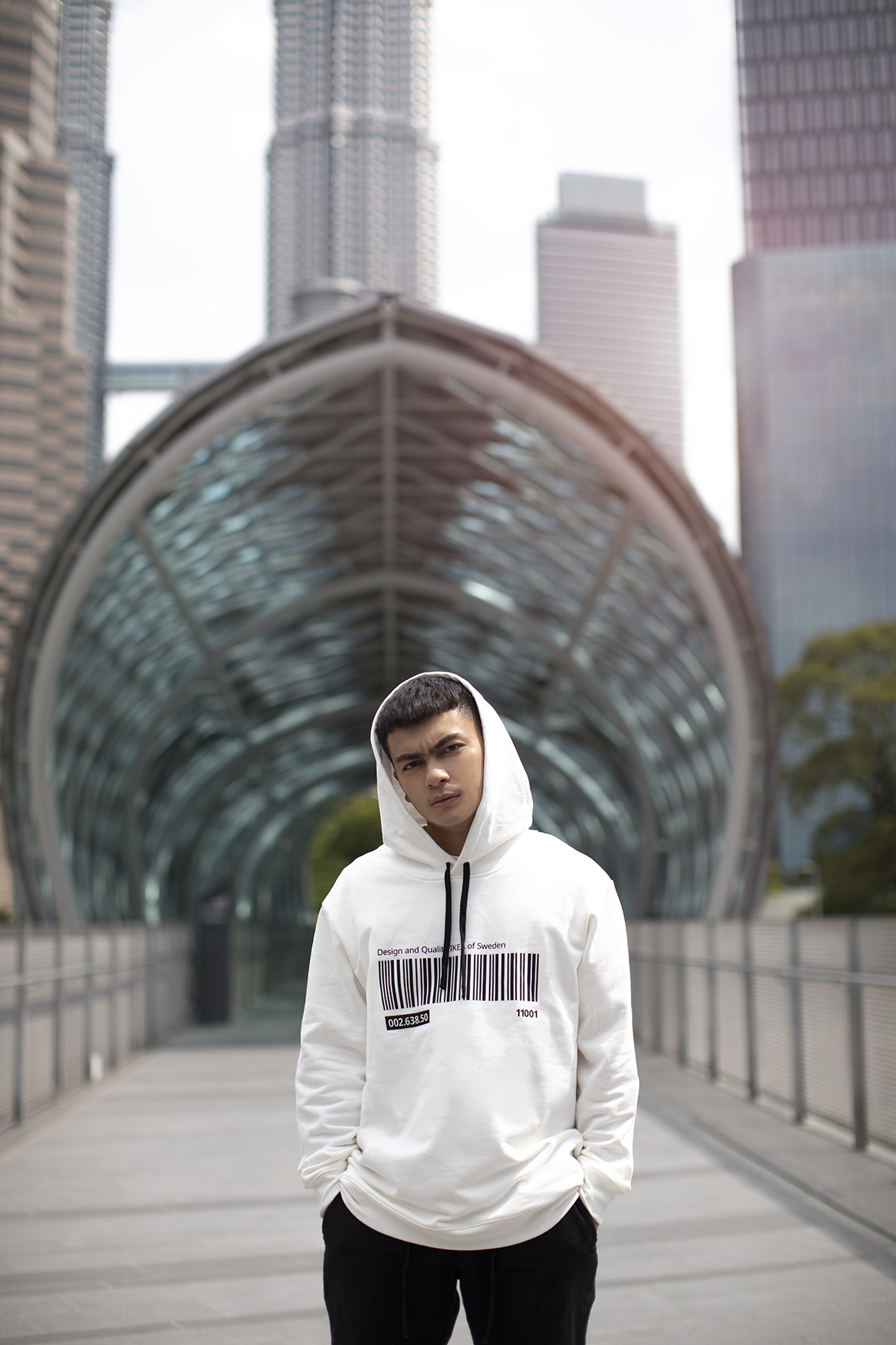 Hoodie, white, (S-M and L-XL): RM79.00