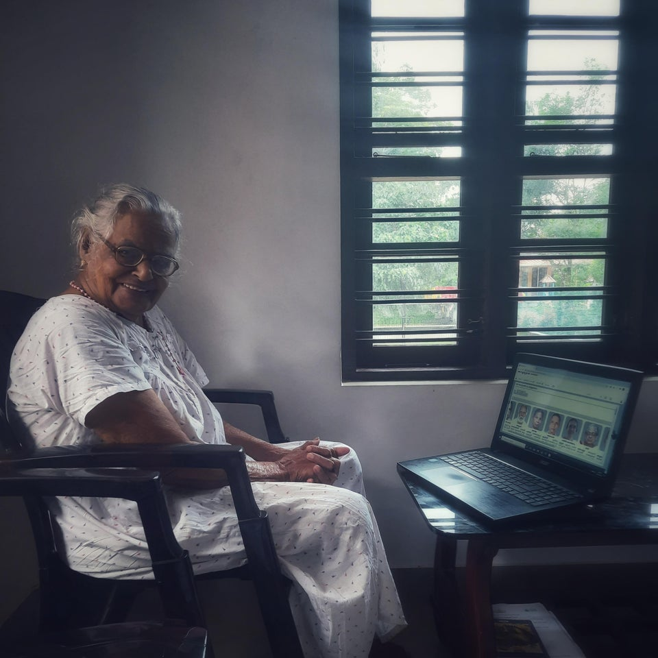 Grandma and her laptop.