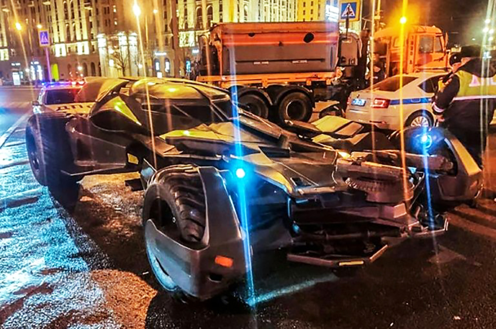Man Strolls Down The Street In His Own Batmobile, But Gets Fined And Had It Seized By The Police