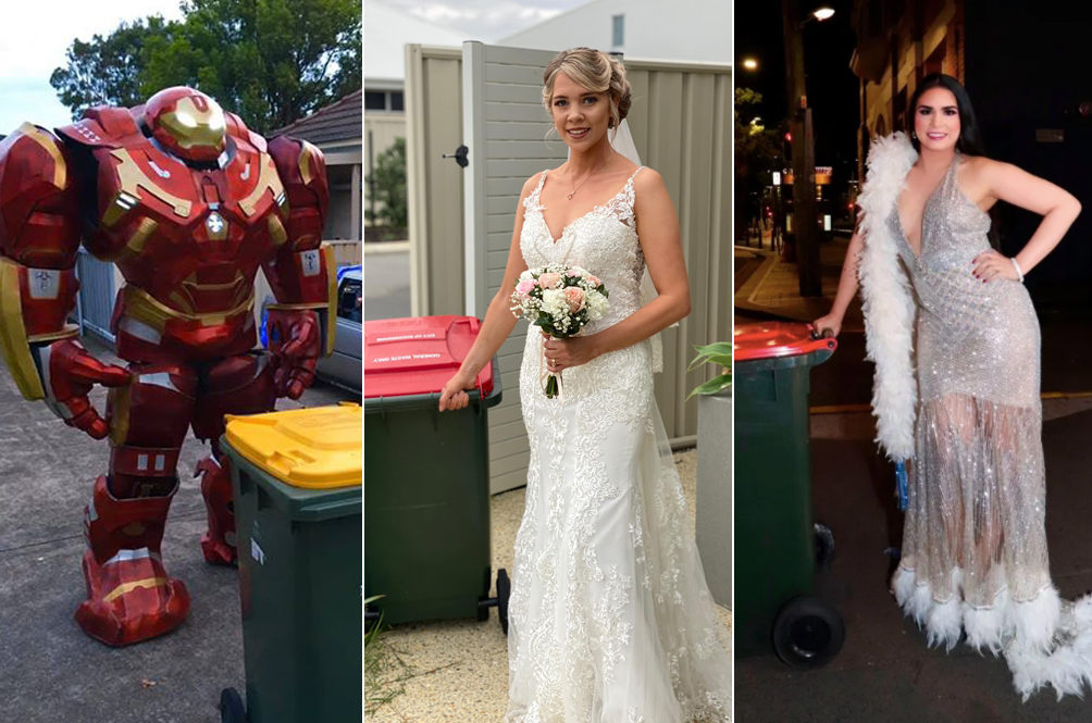 Bored Australians Are Glamming Up (And Cosplaying) Just To Take The Trash Out