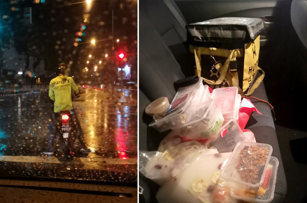 Woman Goes Out Of Her Way To Help Food Delivery Rider Stranded In Heavy Rain