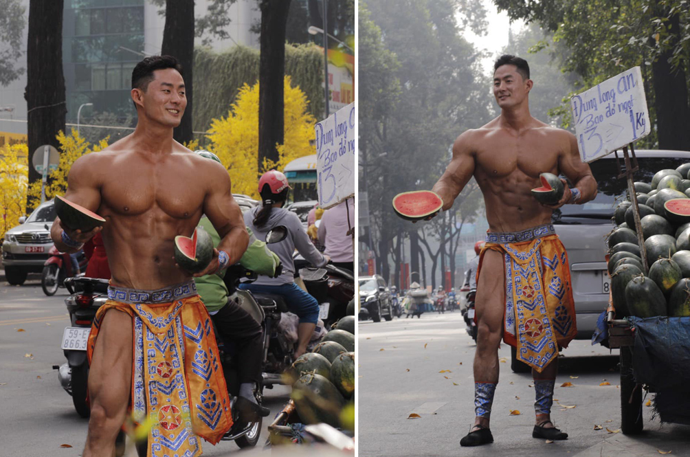 Swole Fitness Trainer Attempts To Sell Watermelon In Vietnam, Becomes Internet Sensation Instead