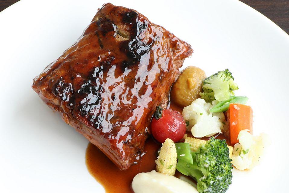 Chargrilled Glazed Pork Ribs.