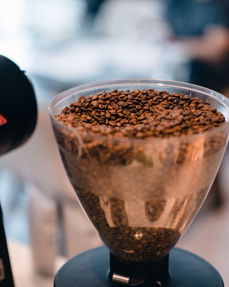 Freshly-roasted coffee.