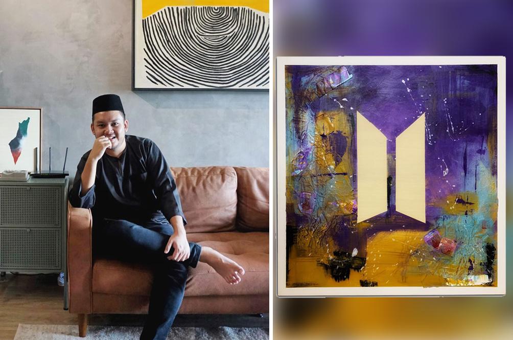 Malaysian Artist Turns McDonald's BTS Meal Packaging Into A Beautiful Piece Of Art