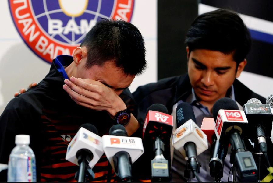 A tearful LCW at the press conference.
