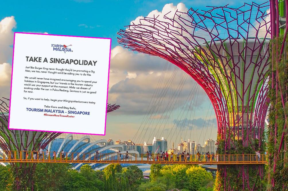 Tourism Malaysia's Post Urging People To 'Take A Singapoliday' Warms Netizens' Hearts