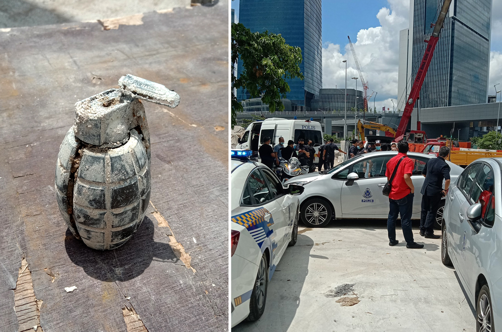 A Power Bank Shaped Like A Grenade Causes Two-Hour Bomb Scare At KL Construction Site