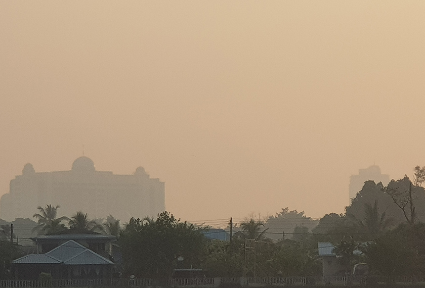 Sarawak is covered in smog.