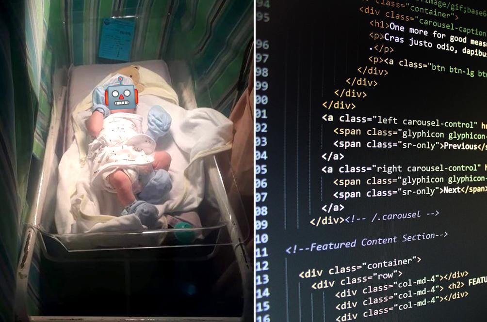 Filipino Man, Who Works As A Web Developer, Names Newborn Son 'HTML'