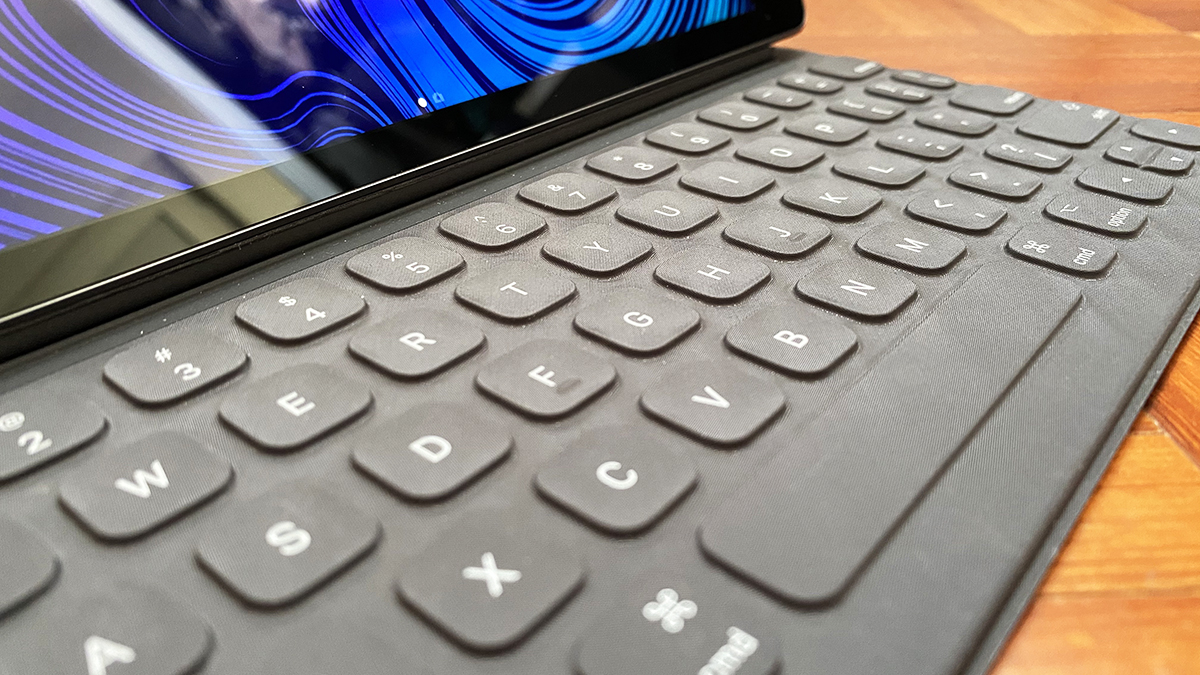 The Smart Keyboard is alright, but not great.