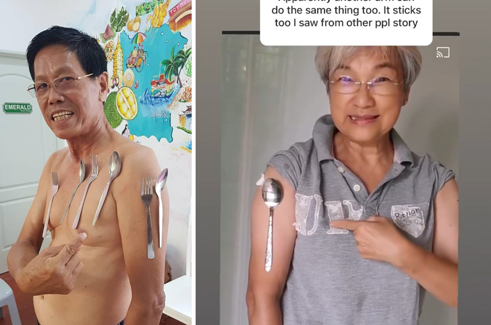 Malaysians Are Demonstrating Their 'Magnetic' Superpowers After Receiving COVID-19 Vaccine
