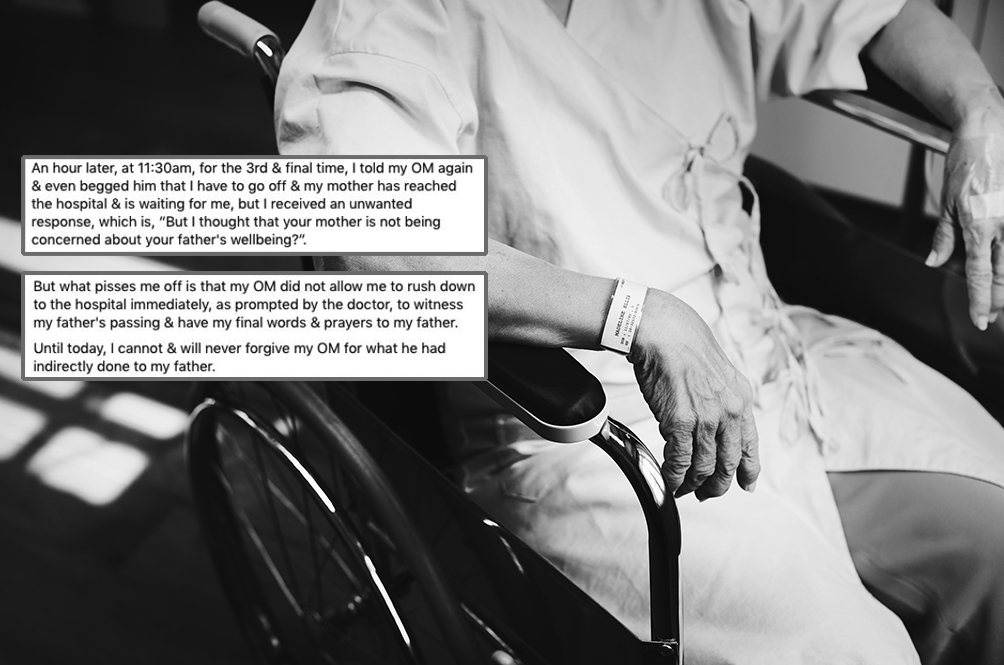 Man Shares Sad Story Of Him Missing Dying Dad's Last Moments Because Manager Held Him Back At Work