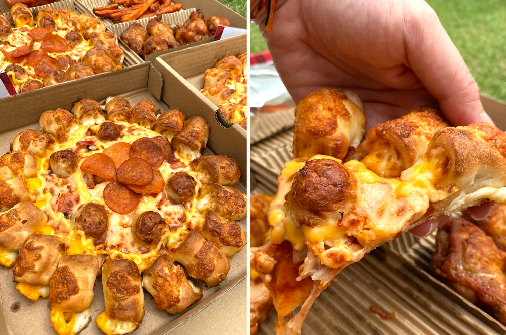 [REVIEW] Pizza Hut's New Cheesy Poppers Pizza Is One Of The Most Interesting Pizzas We've Ever Had