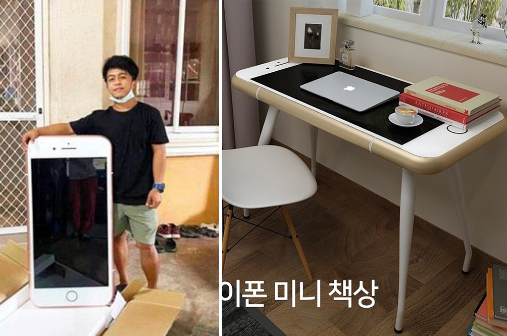 Thai Man Orders iPhone 7 Online, Receives An iPhone-Shaped Desk Instead